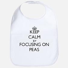Keep Calm by focusing on Peas Bib