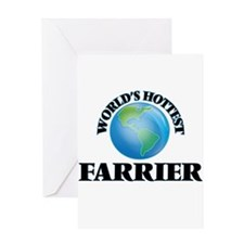 World's Hottest Farrier Greeting Cards