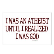 I was an atheist Postcards (Package of 8)