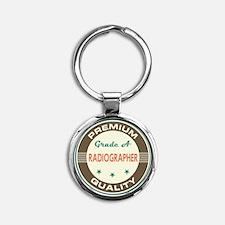 Radiographer Vintage Round Keychain