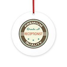 Receptionist Vintage Ornament (Round)