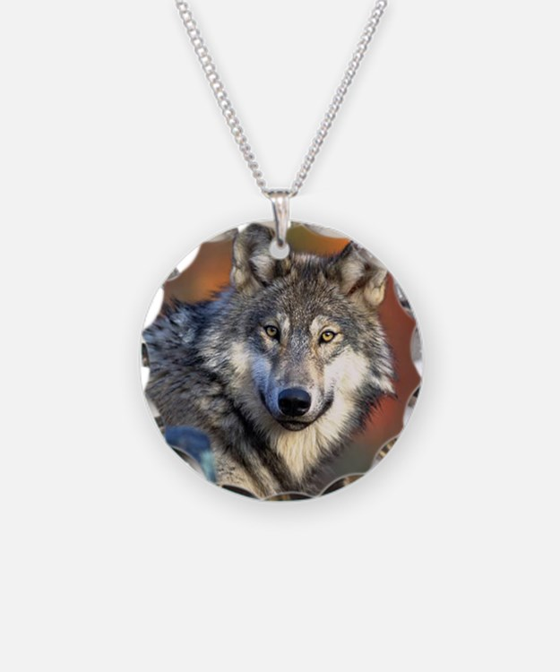 Wolf Photograph Necklace