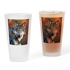 Wolf Photograph Drinking Glass