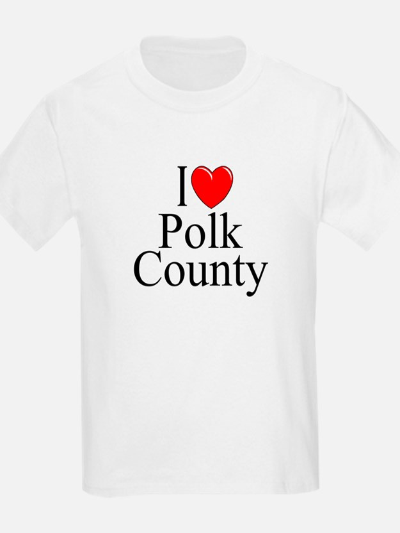 """I Love Polk County"" T-Shirt"