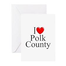"""I Love Polk County"" Greeting Cards (Pk of 10)"