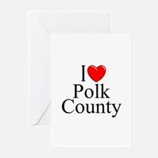 """I Love Polk County"" Greeting Cards (Pk of 10)"