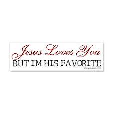 Jesus Loves You Car Magnet 10 x 3