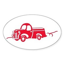 The Red Truck Oval Decal