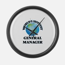 World's Hottest General Manager Large Wall Clock