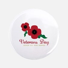 "Veterans Day Honor Flowers 3.5"" Button (100 pack)"