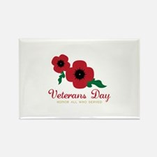 Veterans Day Honor Flowers Magnets