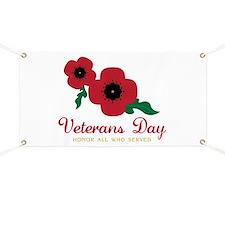 Veterans Day Honor Flowers Banner