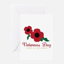 Veterans Day Honor Flowers Greeting Cards