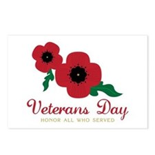 Veterans Day Honor Flowers Postcards (Package of 8