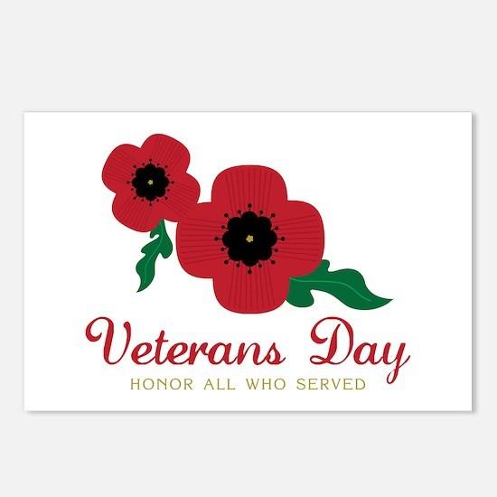 Veterans Day Honor Flowers Postcards (Package of 8
