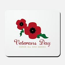 Veterans Day Honor Flowers Mousepad