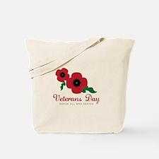 Veterans Day Honor Flowers Tote Bag