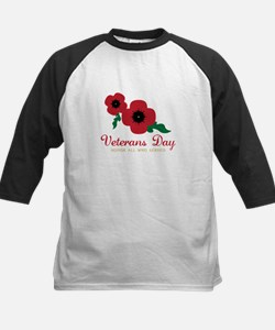 Veterans Day Honor Flowers Baseball Jersey