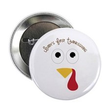"""Baby's First Thanksgiving 2.25"""" Button (10 pack)"""