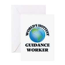 World's Hottest Guidance Worker Greeting Cards