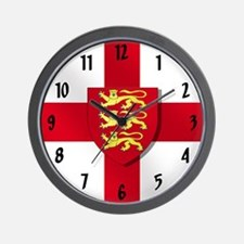 England 3 Lions Flag Wall Clock