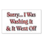 Washing It / Went Off Rectangle Sticker