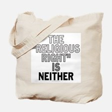 Religious right... (canvas tote)