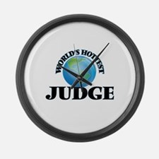 World's Hottest Judge Large Wall Clock
