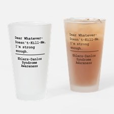 Im Strong Enough - EDS Awareness Drinking Glass