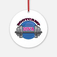 Bootcamp Diva Ornament (Round)