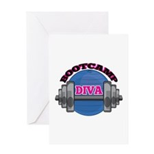 Bootcamp Diva Greeting Cards
