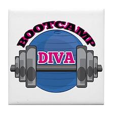 Bootcamp Diva Tile Coaster