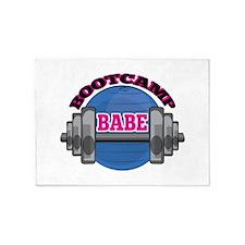 Bootcamp Babe 5'x7'Area Rug