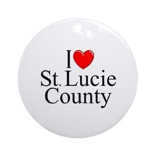 """""""I Love St. Lucie County"""" Ornament (Round)"""