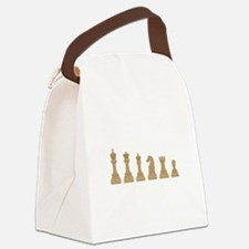 Chess Pieces Canvas Lunch Bag