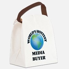 World's Hottest Media Buyer Canvas Lunch Bag