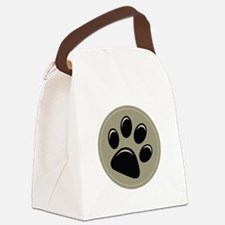 Puppy Approved Decal Canvas Lunch Bag