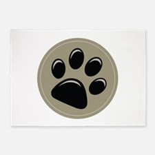 Puppy Approved Decal 5'x7'Area Rug