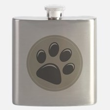 Puppy Approved Decal Flask