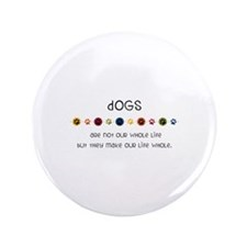 """Dogs 3.5"""" Button (100 pack)"""