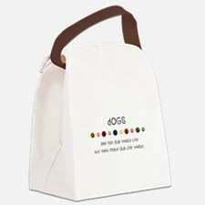 Dogs Canvas Lunch Bag