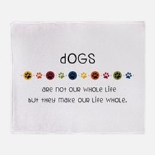 Dogs Throw Blanket