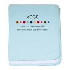 Dogs baby blanket