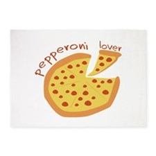 Pepperoni Lover 5'x7'Area Rug