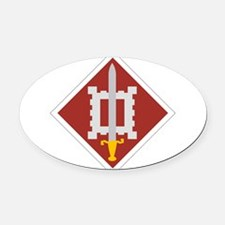 18th Engineer Brigade.png Oval Car Magnet