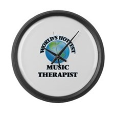 World's Hottest Music Therapist Large Wall Clock