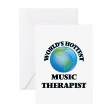 World's Hottest Music Therapist Greeting Cards