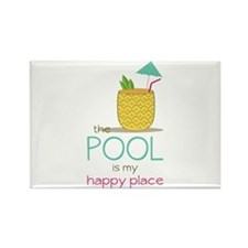 The Pool Is My Happy Place Magnets