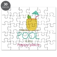 The Pool Is My Happy Place Puzzle