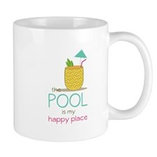 The Pool Is My Happy Place Mugs